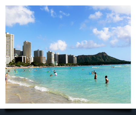Development on the beach that is eligible for home buyer rebate in Honolulu, Hawaii